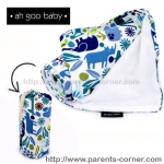 ผ้าห่มพกพา The Stroller Blanket Ah Goo Baby - Zoo Frenzy